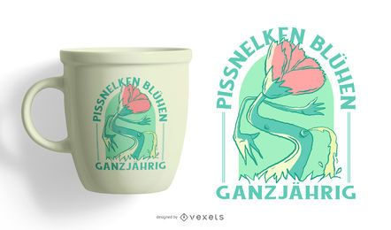 Diseño de camiseta alemana de idiotas durante todo el año