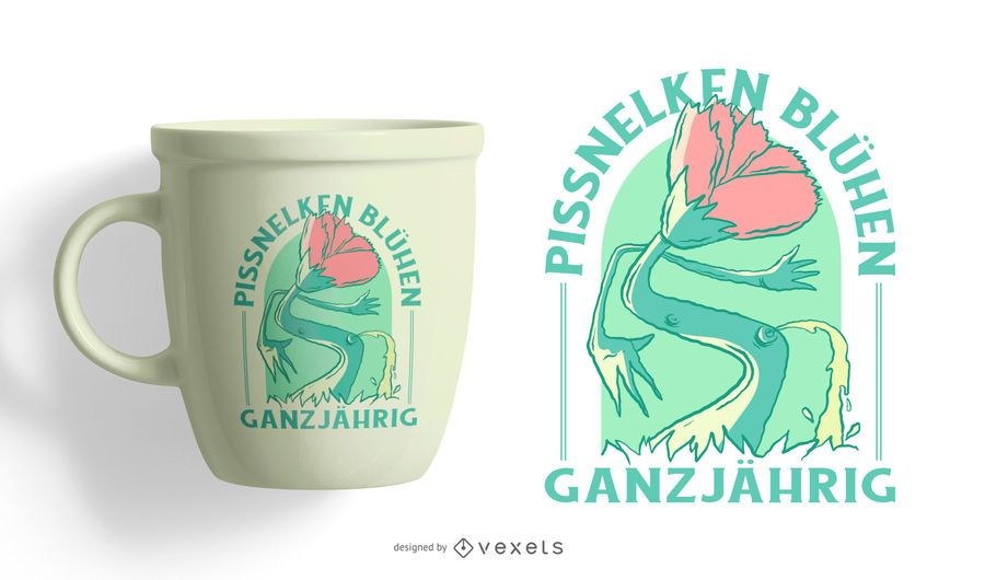 Idiots Grow Year-Round German T-shirt Design