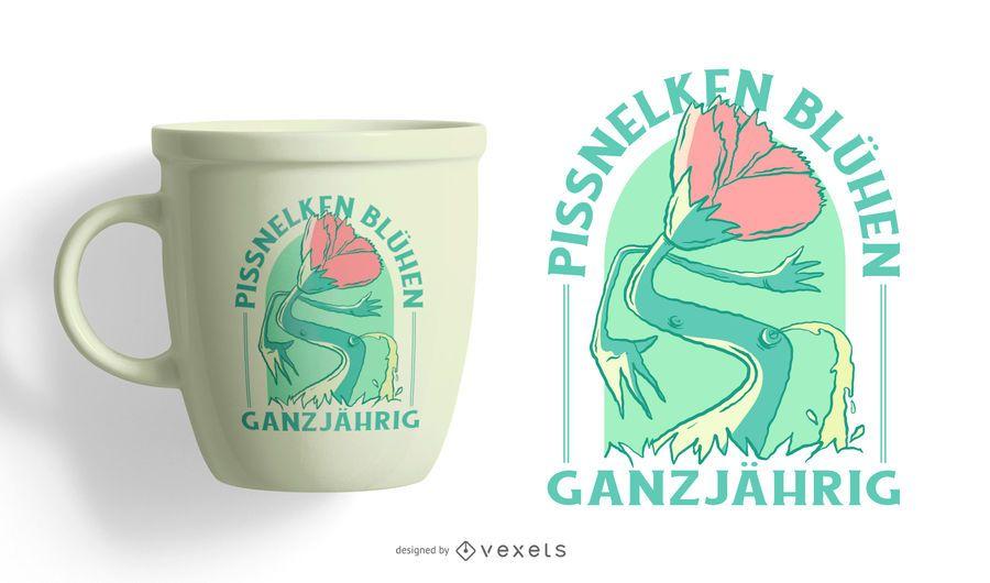 Os idiotas crescem o design alemão do t-shirt durante todo o ano