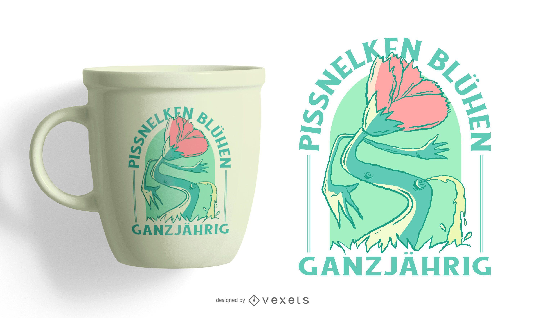 Idiotas crescem o ano todo design de camisetas alemãs