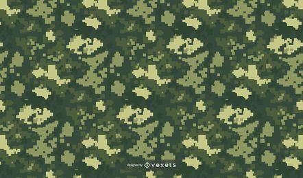 Patrón de camuflaje verde pixelado