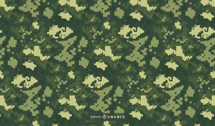 Pixelated Green Camo Pattern