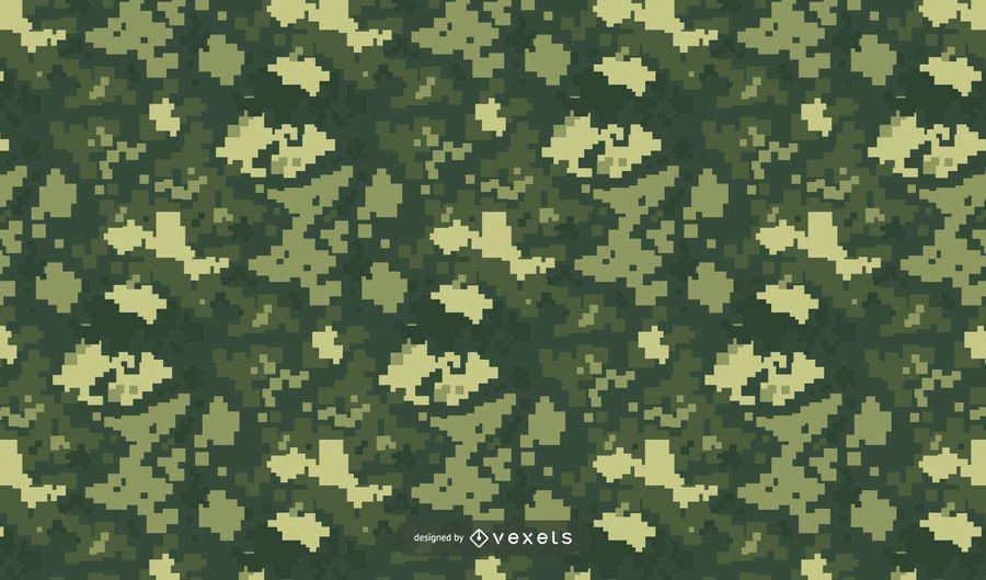 Pixelated Green Camo Pattern