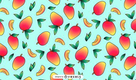 Delicioso diseño de patrón de mango