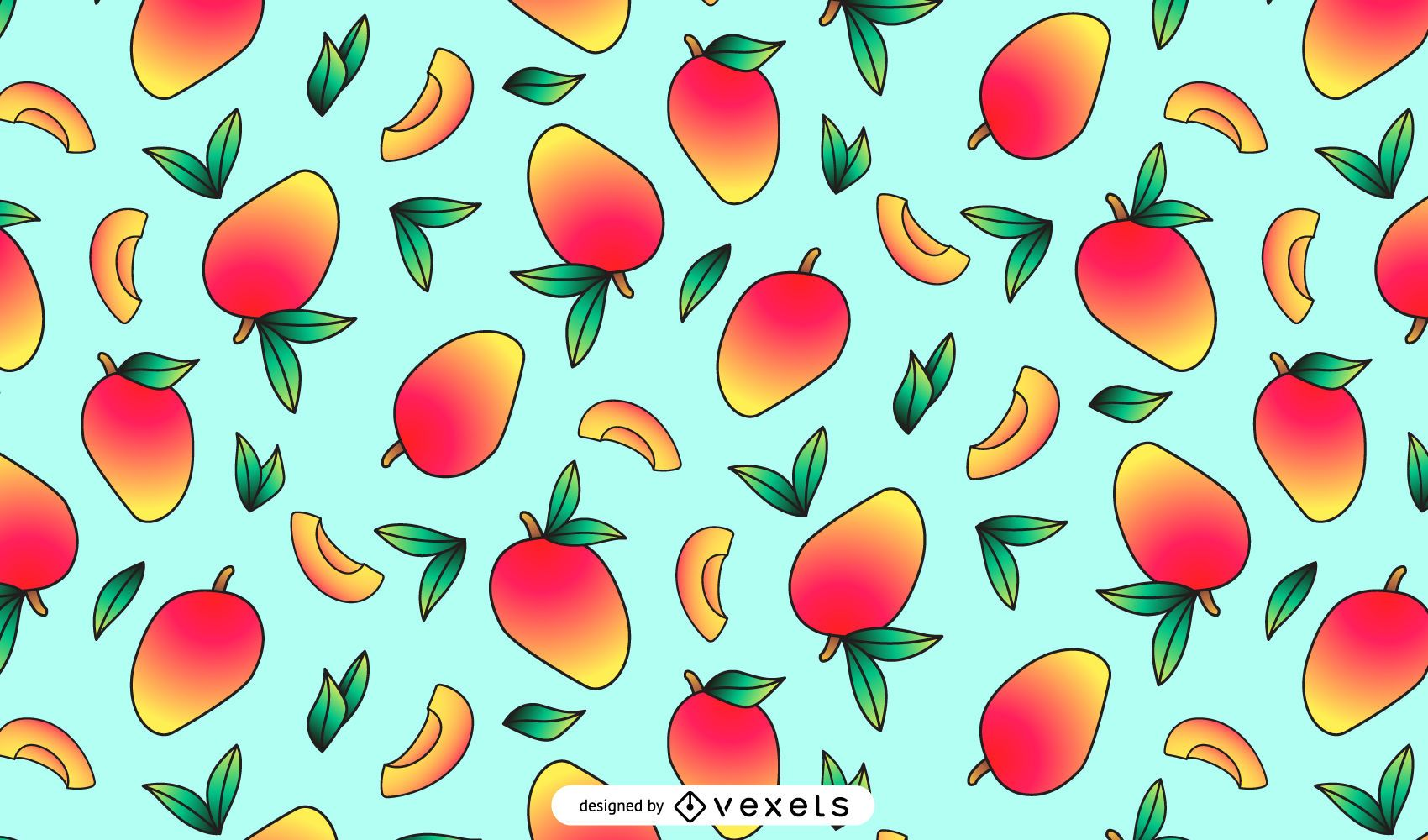 Delicious Mango Pattern Design