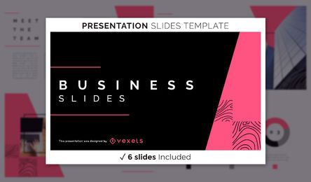 Modelo de apresentação de negócios abstratos