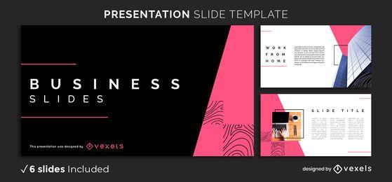 Plantilla de presentación de negocios abstractos