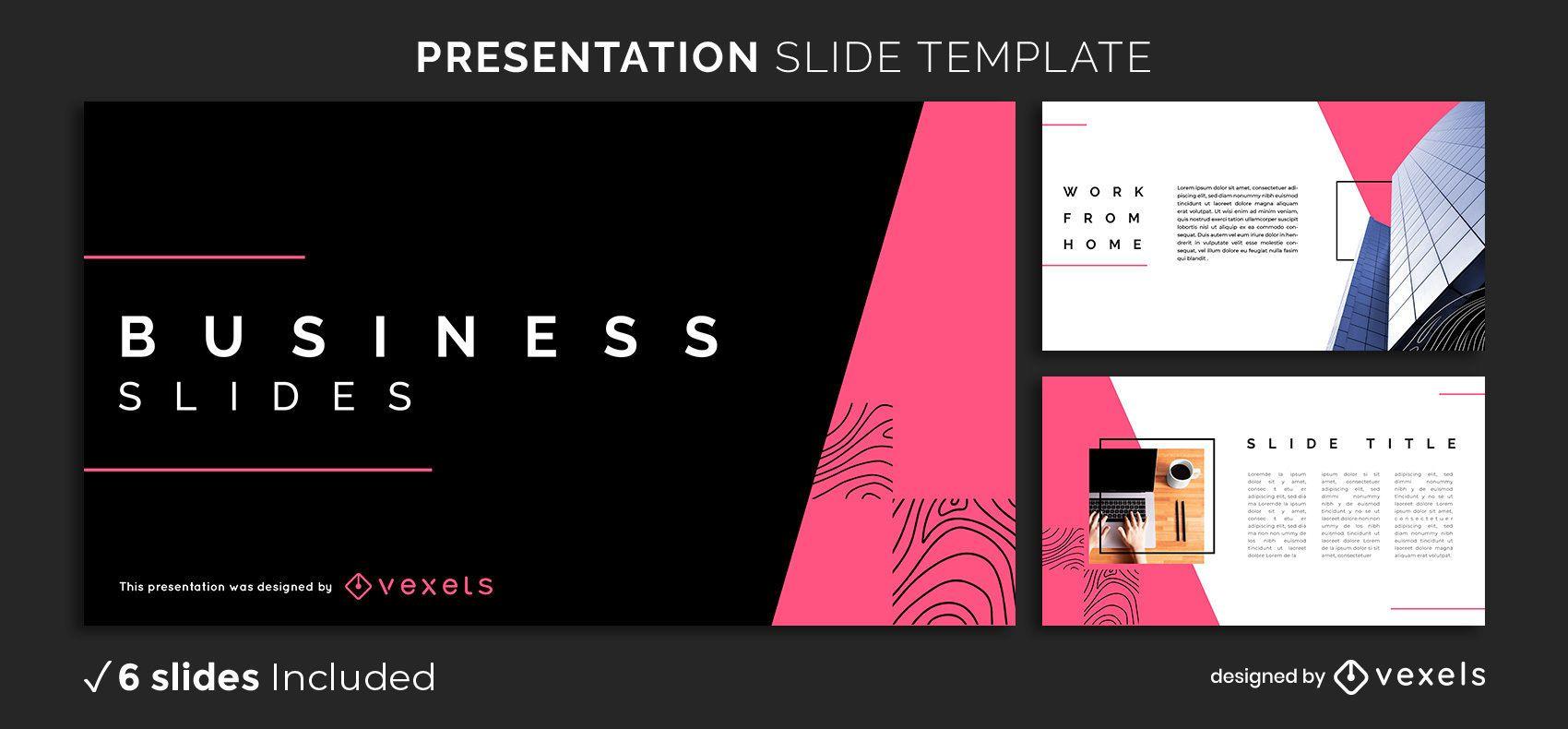 Plantilla de presentación de negocios abstracta