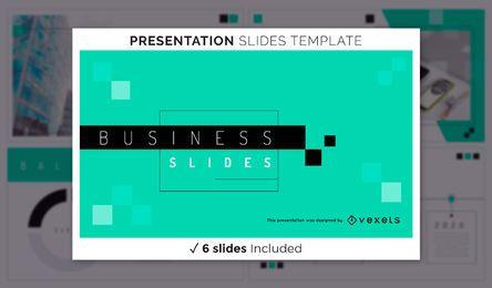 Plantilla de presentación comercial geométrica