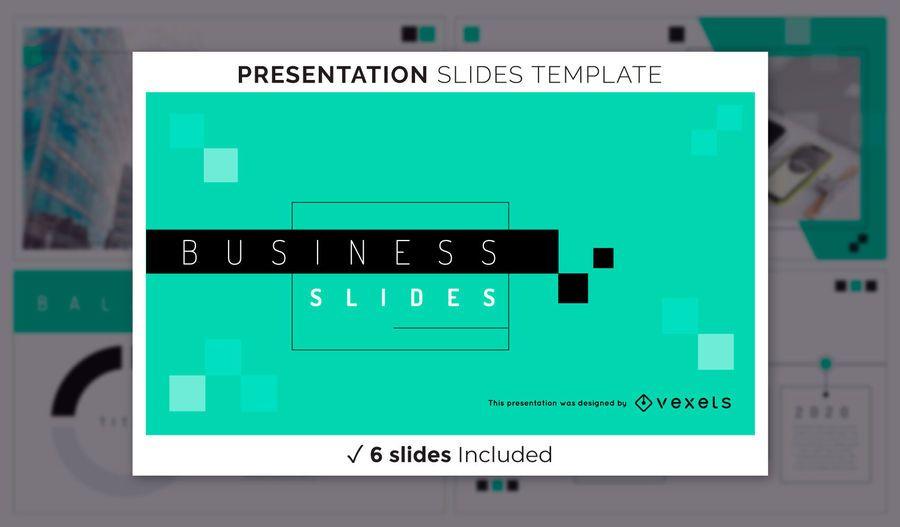 Geometrische Geschäftspräsentationsvorlage