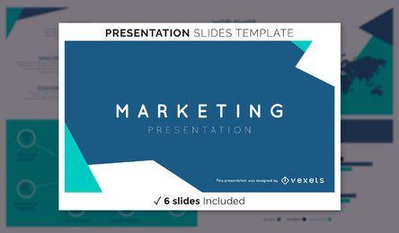 Modelo de apresentação de marketing abstrata
