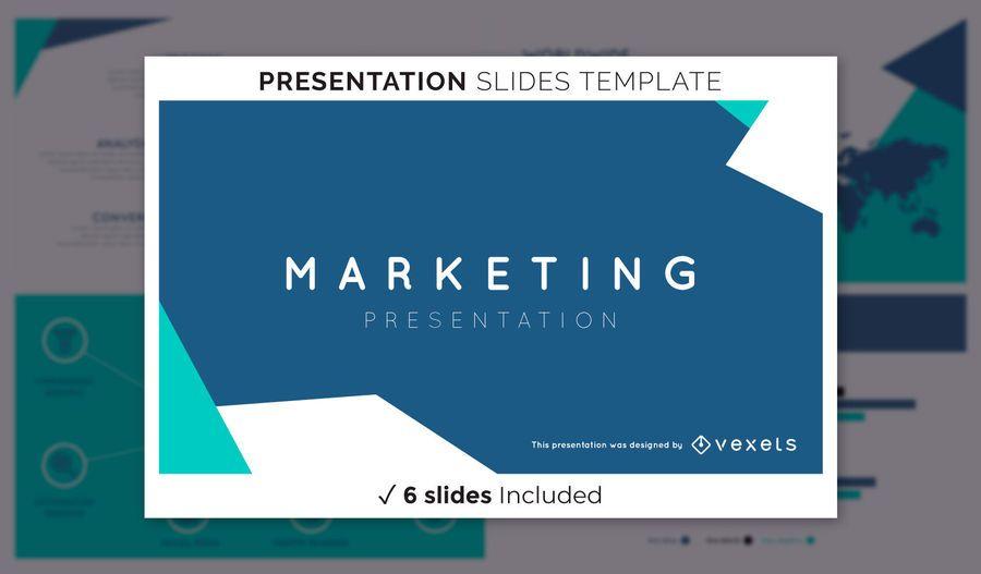 Abstrakte Marketing-Präsentationsvorlage