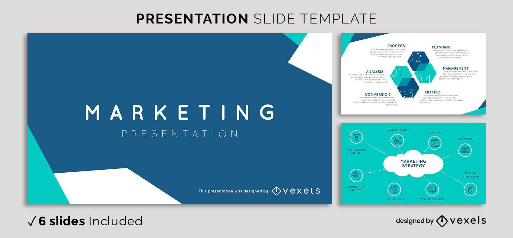 Plantilla de presentación de marketing abstracta
