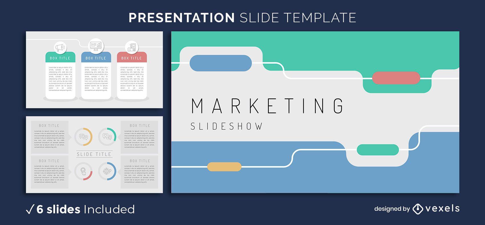 Modelo de apresentação de marketing simples