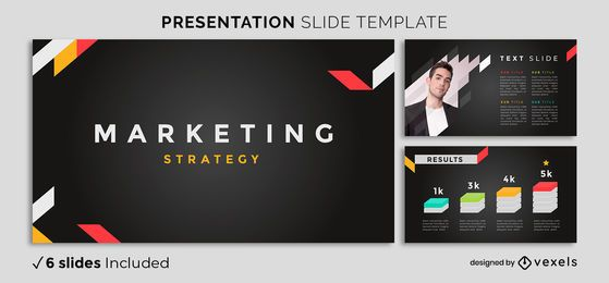 Modern Dark Marketing Presentation Template