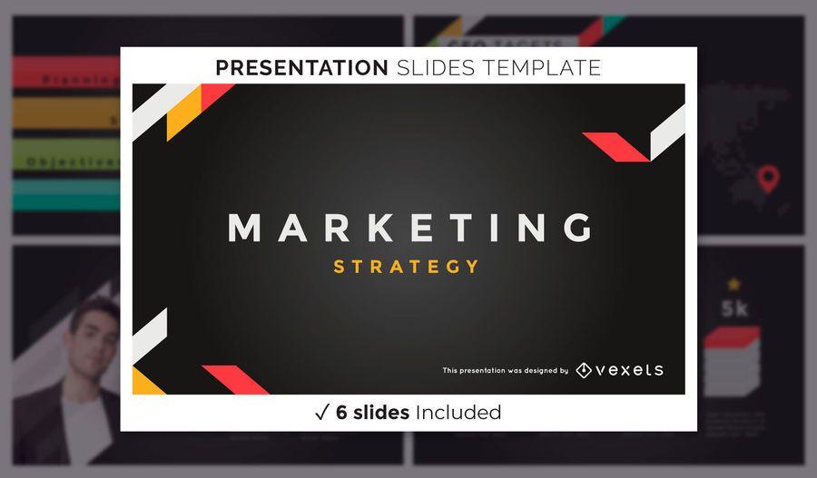 Moderne dunkle Marketing-Präsentationsvorlage