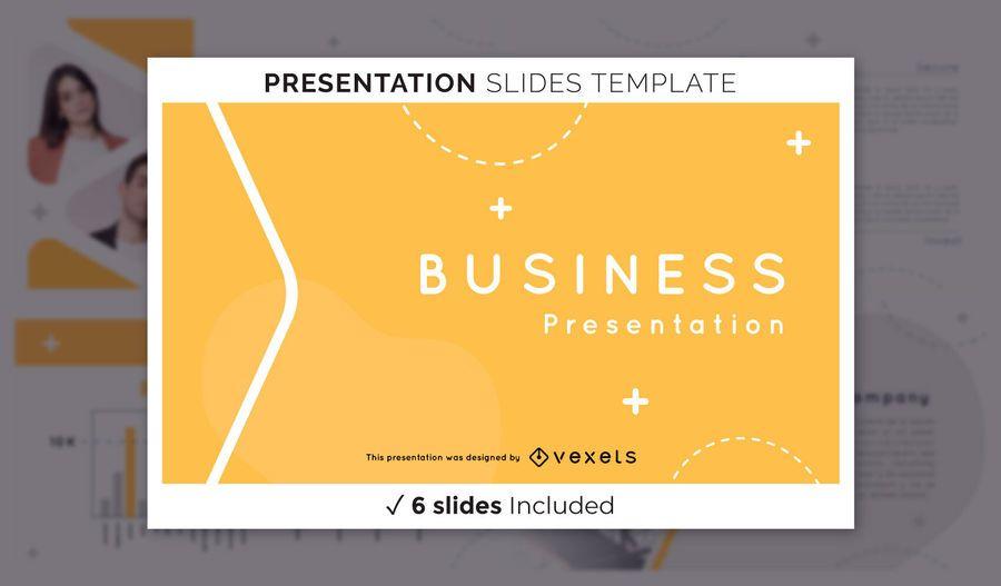 Einfache Business-Präsentationsvorlage
