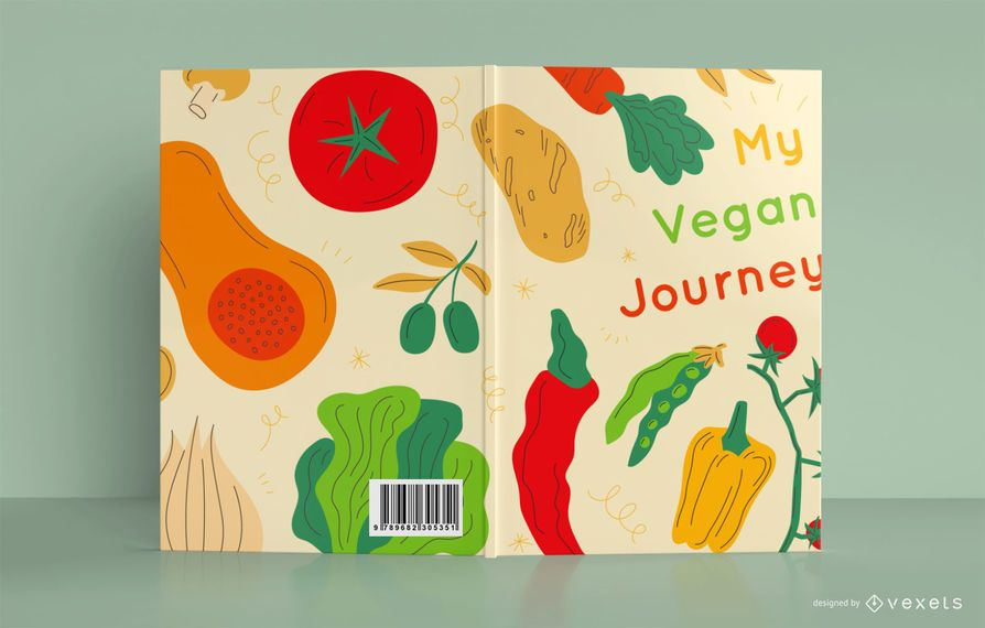 Mi diseño de portada de libro de viaje vegano