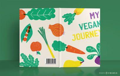 Diseño de portada de libro de diario vegano