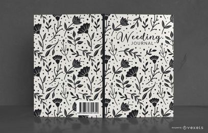 Floral wedding journal book cover design