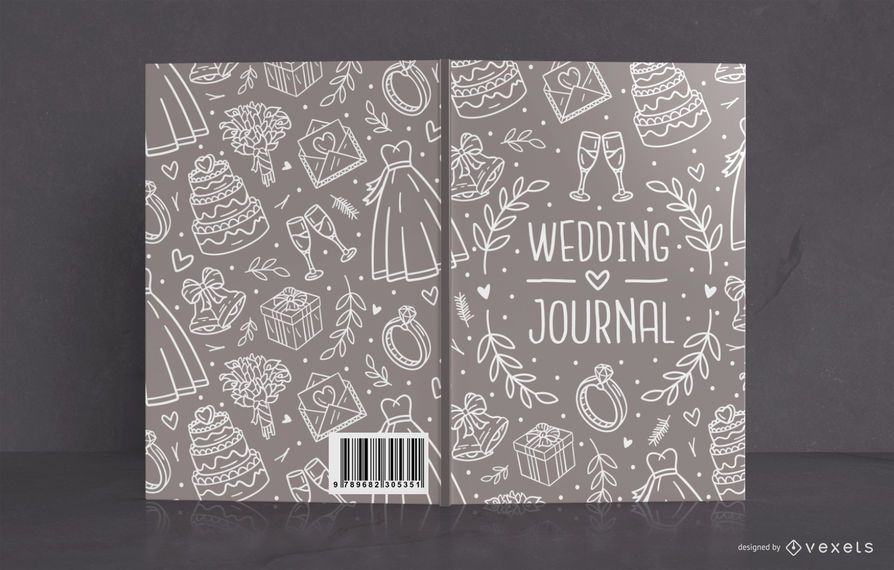 Wedding journal book cover design