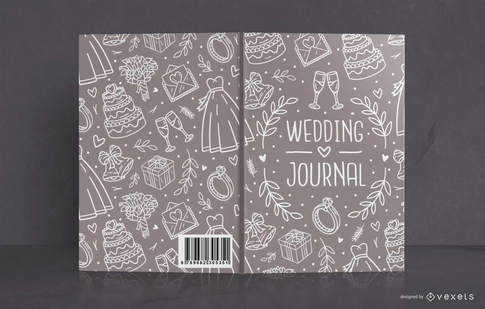 Wedding journal book cover design