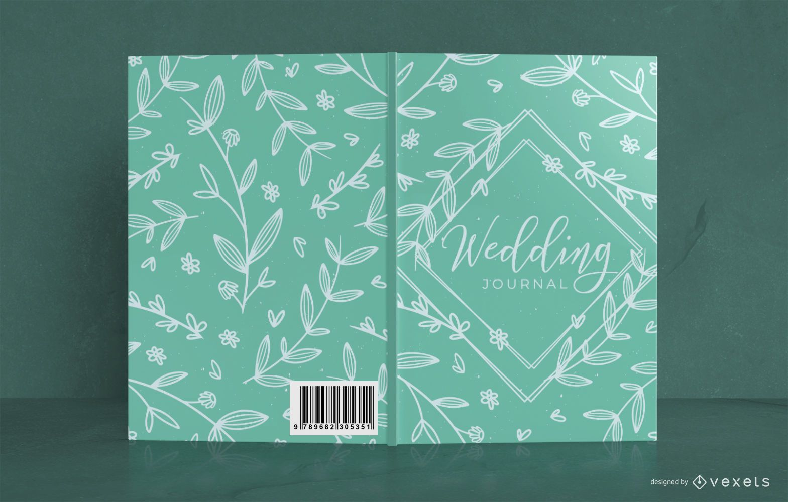 Wedding floral book cover design
