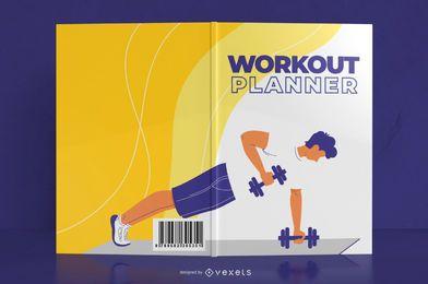 Design de capa de livro de diário de treino