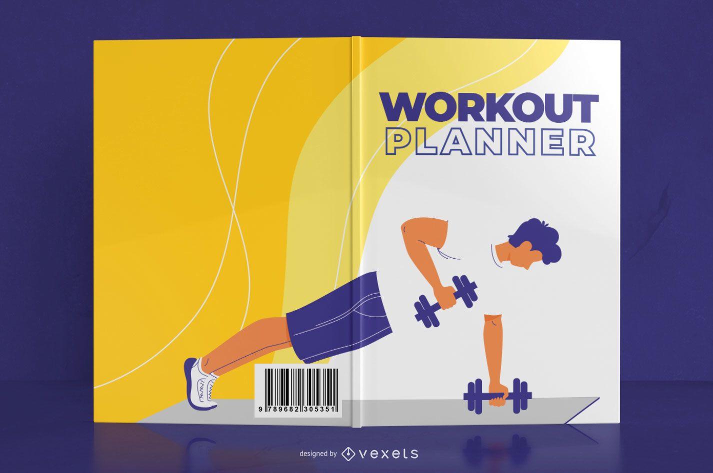 Dise?o de portada de libro de diario de entrenamiento