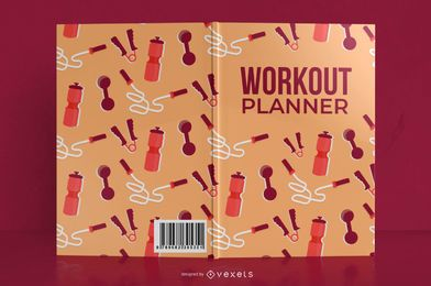 My workout planner book cover design