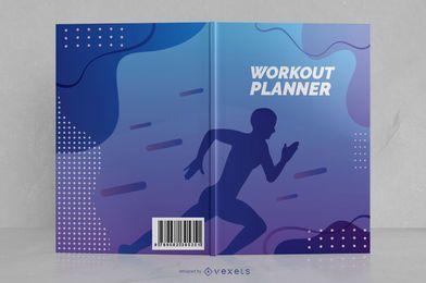 Design de capa de livro de corredor de planejador de treino