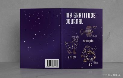 Astrology Gratitude Journal Diseño de portada de libro