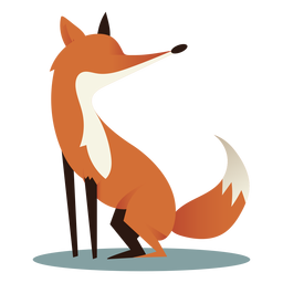 All fours fox side