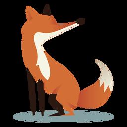 Cuatro patas del lado del zorro
