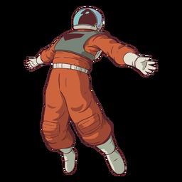 Brazos extendidos astronauta de color