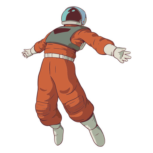 Arms spread astronaut colored