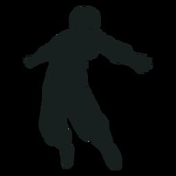 Arms spread astronaut silhouette
