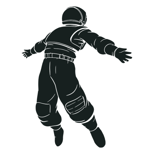 Arms spread astronaut silhouette Transparent PNG