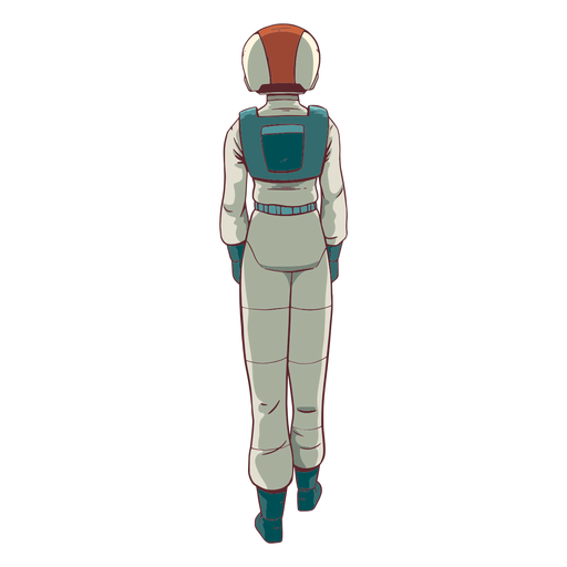 Astronaut colored behind