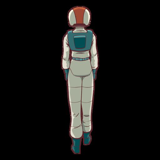 Astronauta colorido atrás