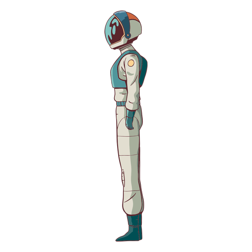 Astronaut colored side view