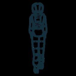 Astronauta dibujado detrás