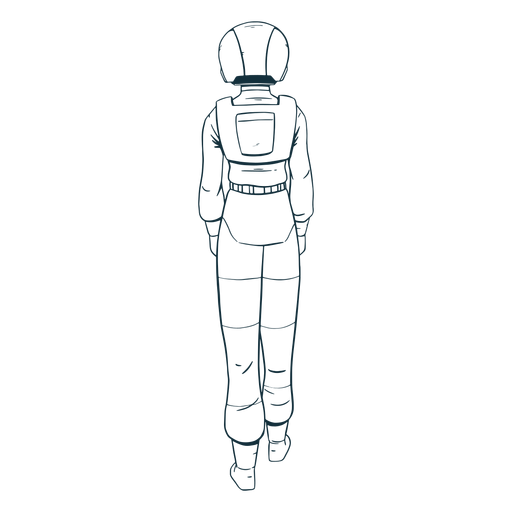 Astronaut drawn behind