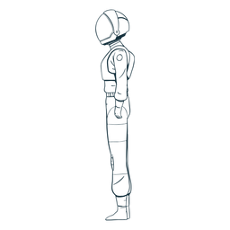 Astronaut drawn side view
