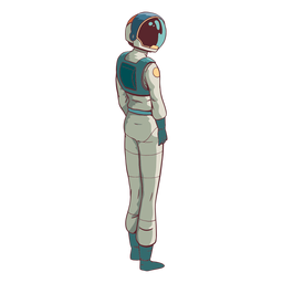 Astronaut looking side colored