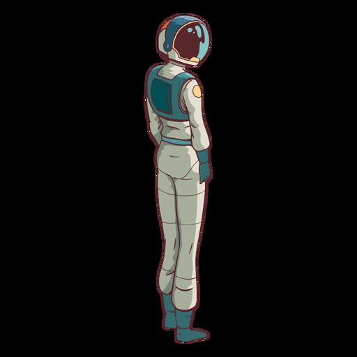 Astronauta mirando de lado de color Transparent PNG