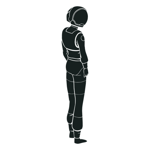Astronaut looking side silhouette