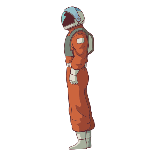 Astronaut side view colored