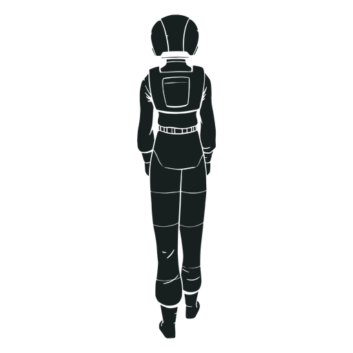 Astronaut silhouette behind