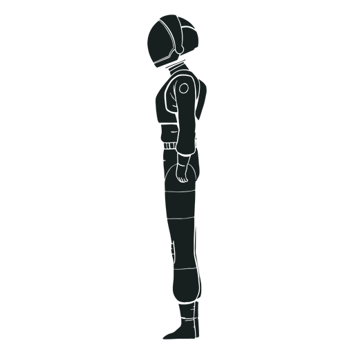 Astronaut silhouette side view